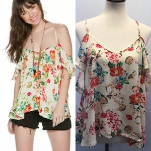 Others Follow Women's Naty Cold Shoulder Top S M L